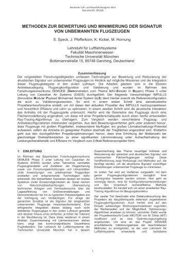 Methoden zur Bewertung und Minimierung der Signatur von ...