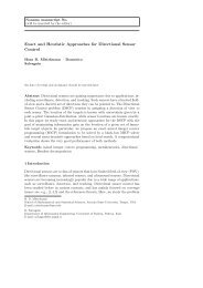 Exact and Heuristic Approaches for Directional Sensor Control - DEI