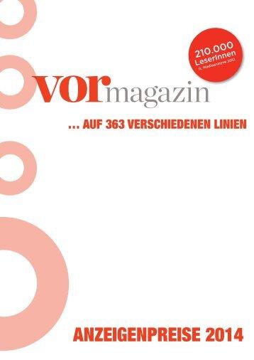 VOR Magazin 2014