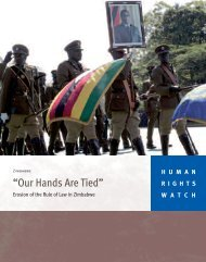 """Our Hands Are Tied"" - Human Rights Watch"