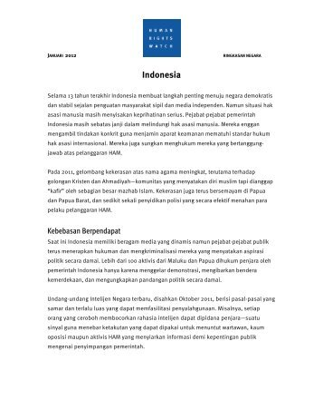 (Indonesian Translation) World Report Chapter: Indonesia 2012 (PDF)