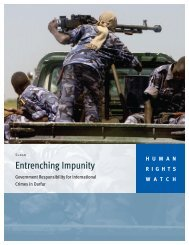 Entrenching Impunity - Human Rights Watch