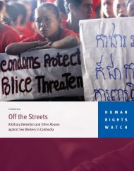 Off the Streets - Human Rights Watch