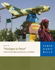 """""""Hostages to Peace"""" - Human Rights Watch"""