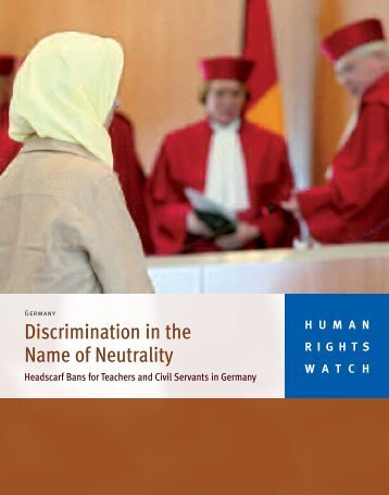 Discrimination in the Name of Neutrality - Human Rights Watch