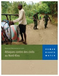 Télécharger le rapport avec couverture - Human Rights Watch
