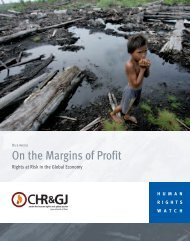 On the Margins of Profit - Human Rights Watch