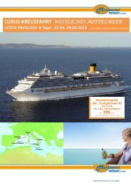COSTA FAVOLOSA 8 Tage - Holdenried Reisen