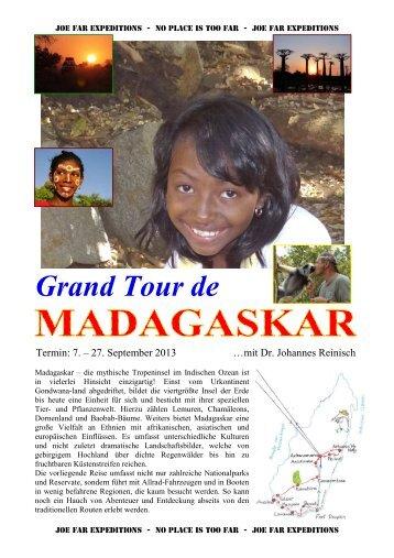 Detailprogramm für die Reise: Madagaskar - Joe Far Tours