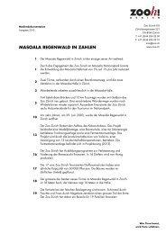 Masoala Regenwald in Zahlen [PDF, 53.0 KB] - Zoo Zürich