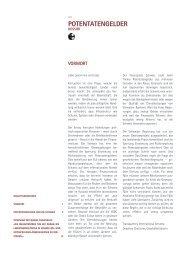 Dossier Potentatengelder - Transparency International