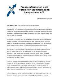 zur Pressemitteilung - Stadt Lampertheim