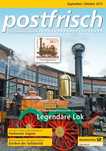 September | Oktober 2013 - Deutsche Post - Philatelie