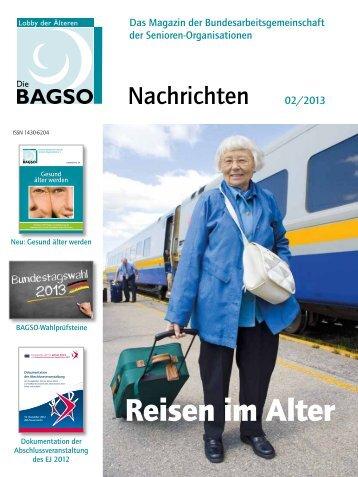 """02/2013 """"Reisen im Alter"""" - Bagso"""