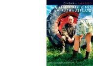 OPEN AIR KINO AM RATHAUSPLATZ - Cinema Paradiso