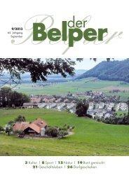 3 Kultur | 8 Sport | 15 Natur | 19 Bunt gemischt 21 ... - Der Belper
