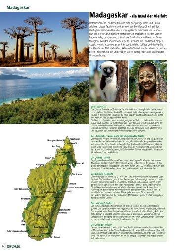 Madagaskar Madagaskar - die Insel der Vielfalt