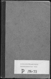 Personalverzeichnis Sommersemester 1910