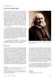 Franz Liszt und die Orgel
