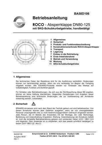 DN 80 - 125 mit Getriebe und Handrad - Hagenbucher