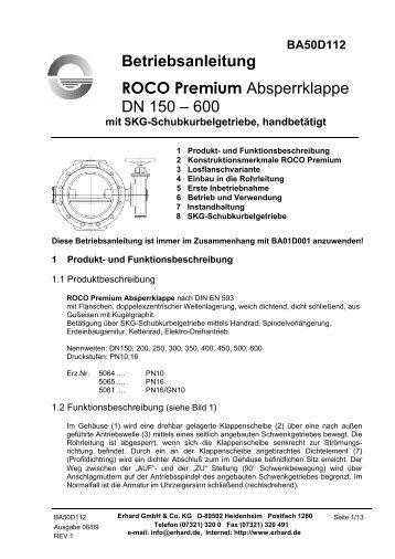 DN 150 - 600 mit Getriebe und Handrad - Hagenbucher