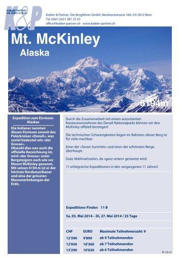 Mt. McKinley - Hauser Exkursionen