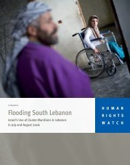 Flooding South Lebanon - Human Rights Watch