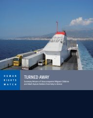 TURNED AWAY - Human Rights Watch