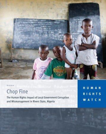 Chop Fine - Human Rights Watch
