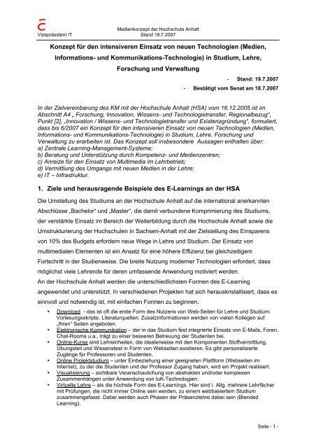 Medienkonzept - Hochschule Anhalt