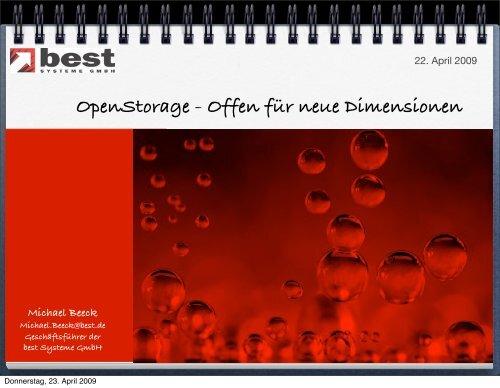 Openstorage - Offen für neue Dimensionen - best Systeme Gmbh