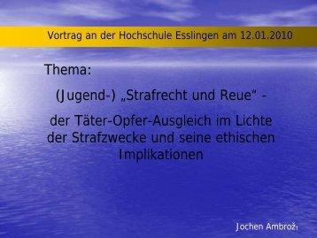 Vortrag_Ambroz_12-1-10.pdf - Hochschule Esslingen
