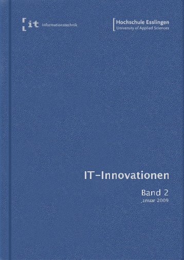 it-Innovationen Wintersemester 2008/09 Band 2 - Hochschule ...
