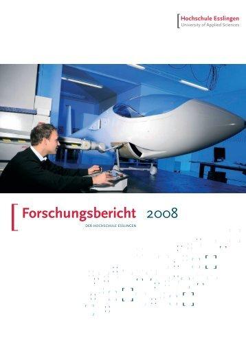 Forschungsbericht 2008 - Hochschule Esslingen