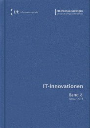 it-Innovationen Wintersemester 2011/12 Band 8 - Hochschule ...