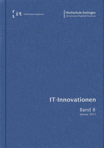 it-Innovationen Wintersemester 2011/12 Band 8 - Hochschule ...