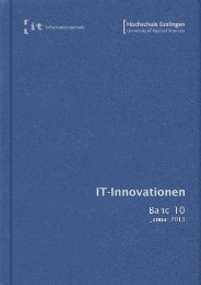 it-Innovationen Wintersemester 2012/13 Band 10 - Hochschule ...