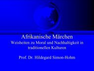 Powerpoint-Präsentation zum Vortrag von Prof. Dr. Hildegard Simon ...