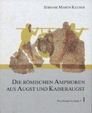 die römischen amphoren aus augst und kaiseraugst - Augusta Raurica