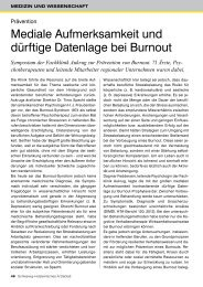 Mediale Aufmerksamkeit und dürftige Datenlage bei Burnout