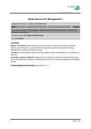 Modul Service & IT Management 1