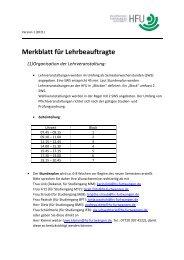 Merkblatt für Lehrbeauftragte (1) - Hochschule Furtwangen
