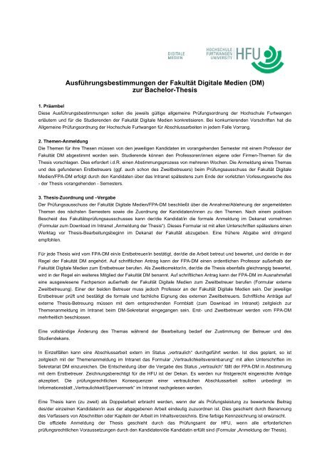 thesis hochschule furtwangen