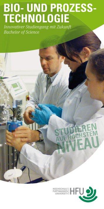 Flyer zum Studiengang (PDF) - Hochschule Furtwangen