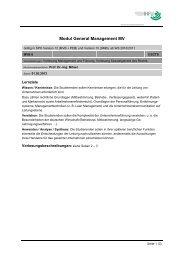 Modul General Management MV