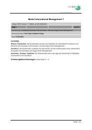 Modul International Management 1