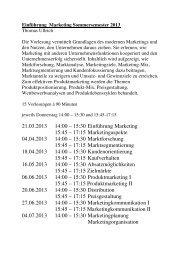 Einführung Marketing (Ullrich)