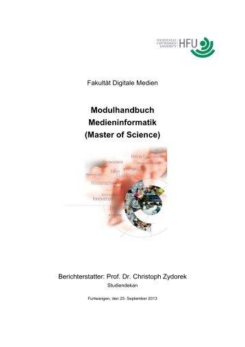 Modulhandbuch Medieninformatik (Master of Science)
