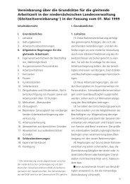 Vereinbarung über die Grundsätze für die gleitende Arbeitszeit in ...