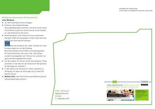 DreamSpark Premium - Hochschule Hannover